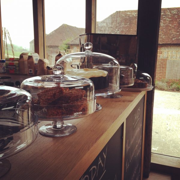 Cakes at the cafe at The Old Workshop