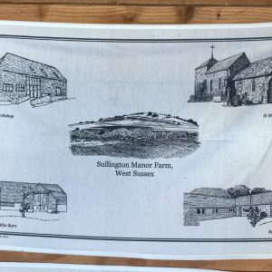 Sullington Manor Farm Tea Towel