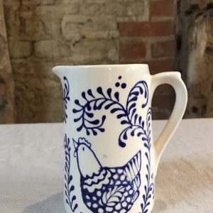 Floral Hen Jug from the cafe at The Old Workshop, Sullington Manor Farm