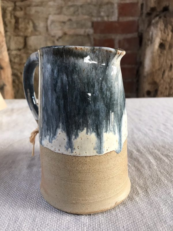 Sage Blue Drip Jug from the cafe at The Old Workshop, Sullington Manor Farm